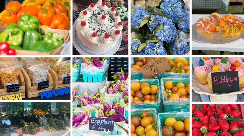 bg farmers market pic collage