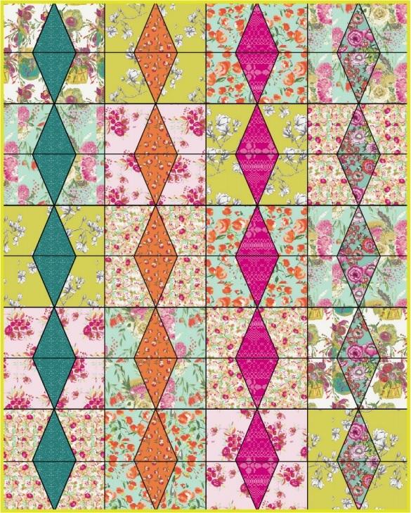Wild Bloom Free Quilt Pattern