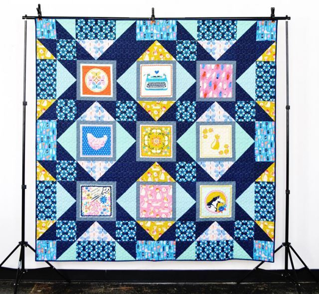 cotton and steel lookbook5- palm house quilt