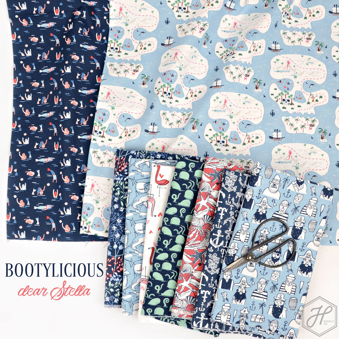Poster-Bootylicious-Fabric-Nautical-from-Dear-Stella-at-Hawthorne-Supply-Co