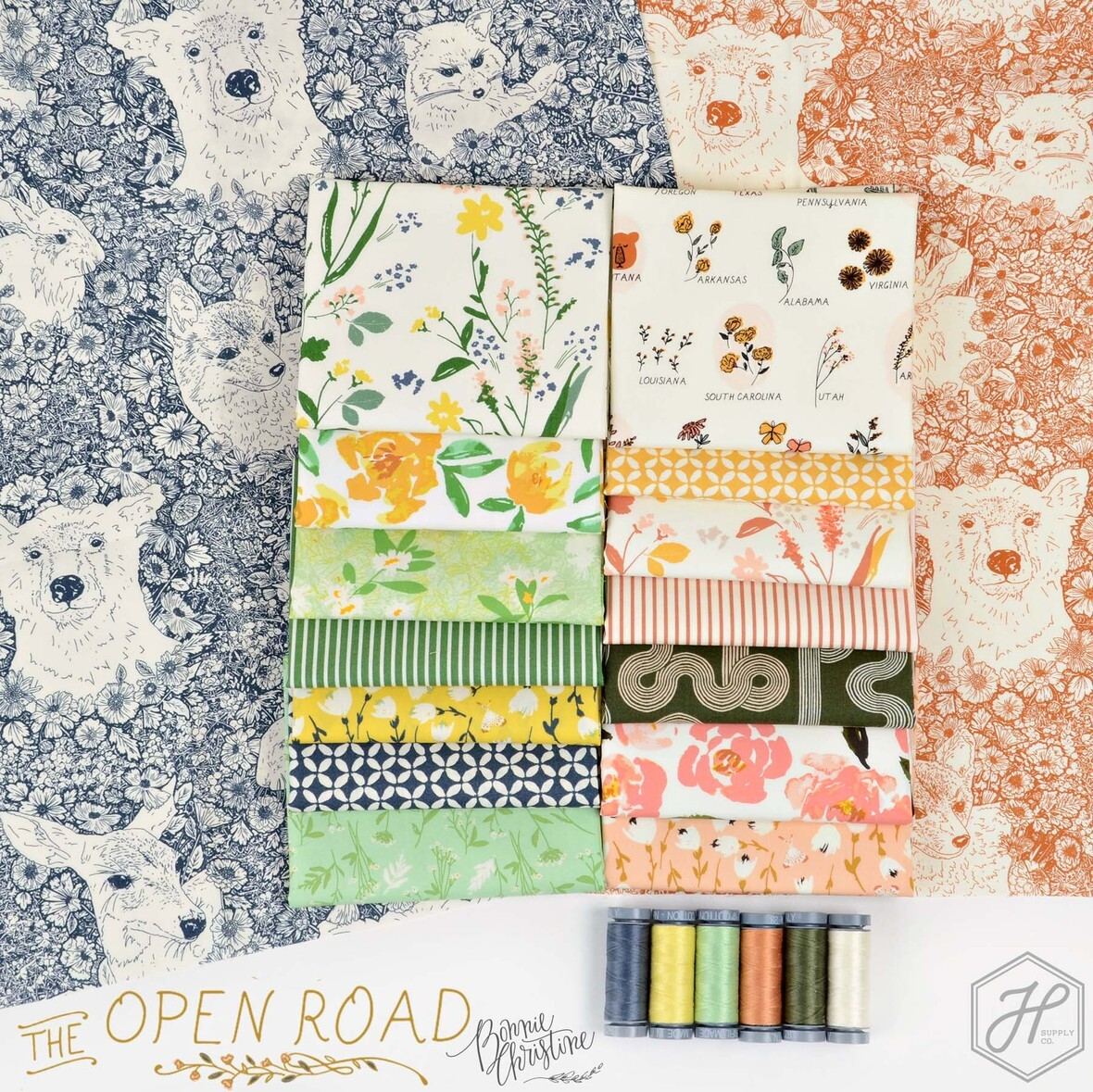 The Open Road Fabric Poster Bonnie Christine at Hawthorne Supply Co