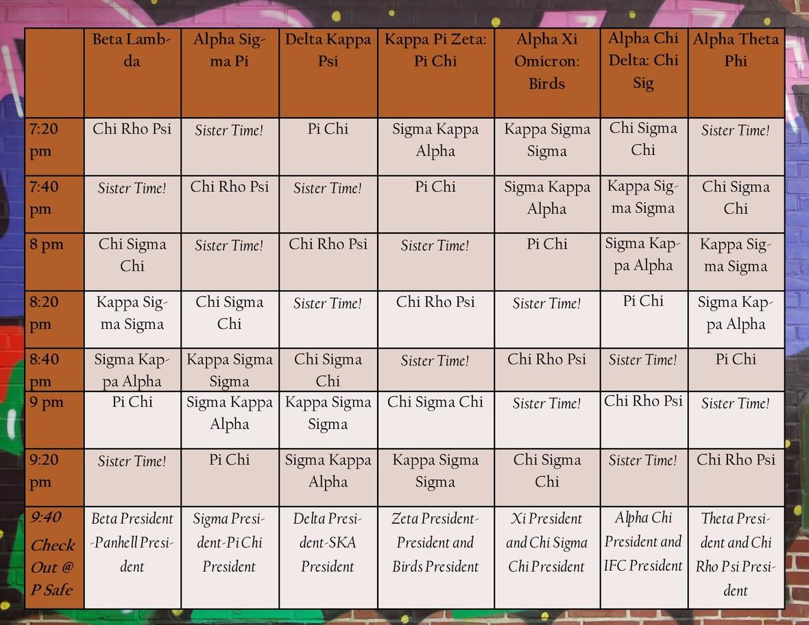 NOTWSN Schedule