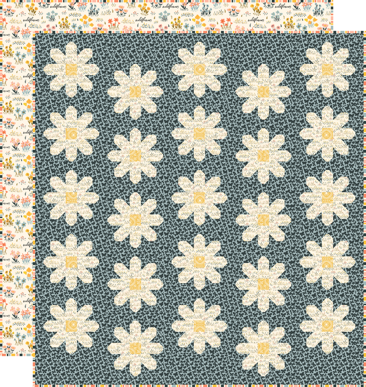 Blissful Blooms Fresh as a Daisy with backing