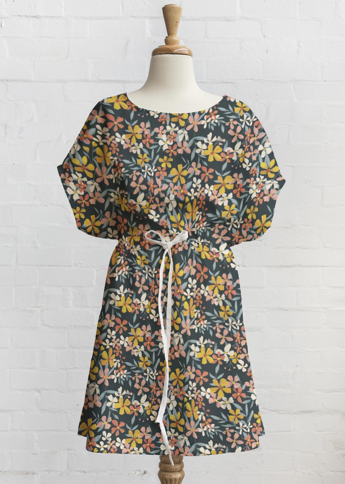 Blissful Blooms Tie Dress