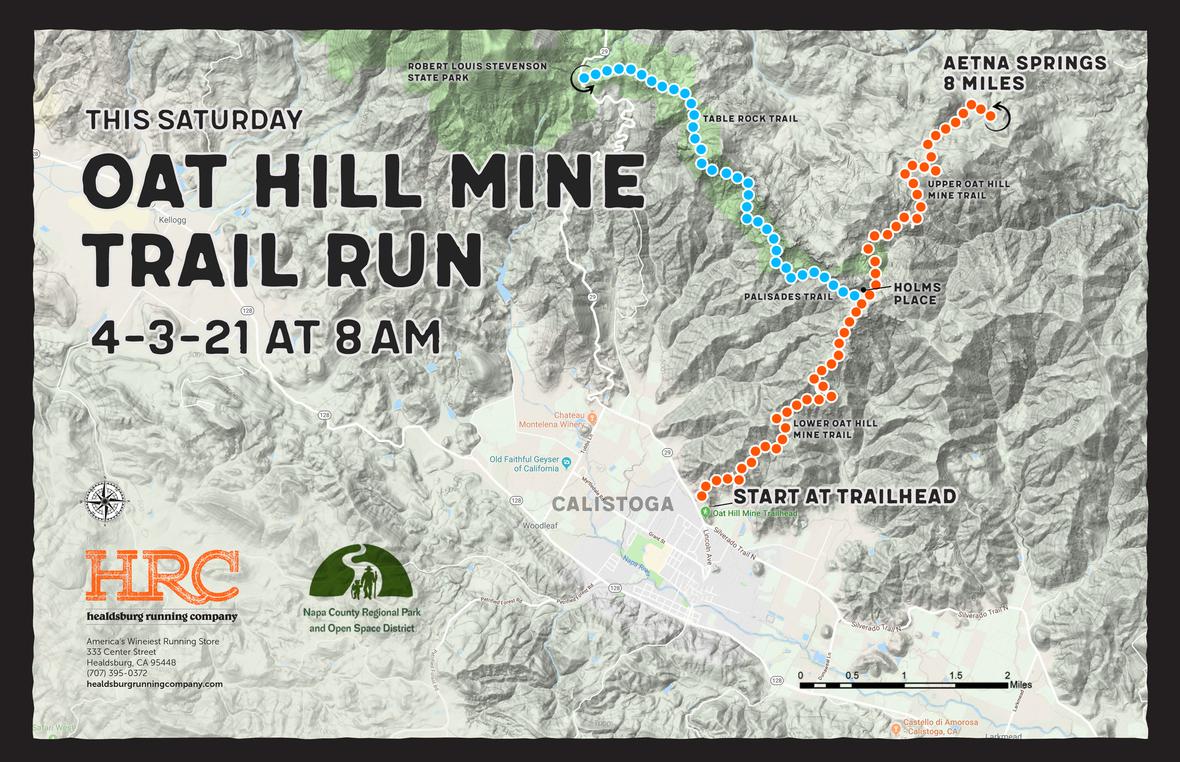 oat hill mine trailhead map 4-3-21