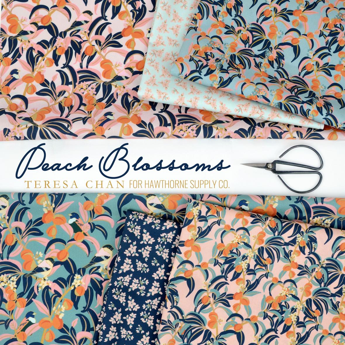 Peach-Blossoms-fabric-Teresa-Chan-for-Hawthorne-Supply-Co