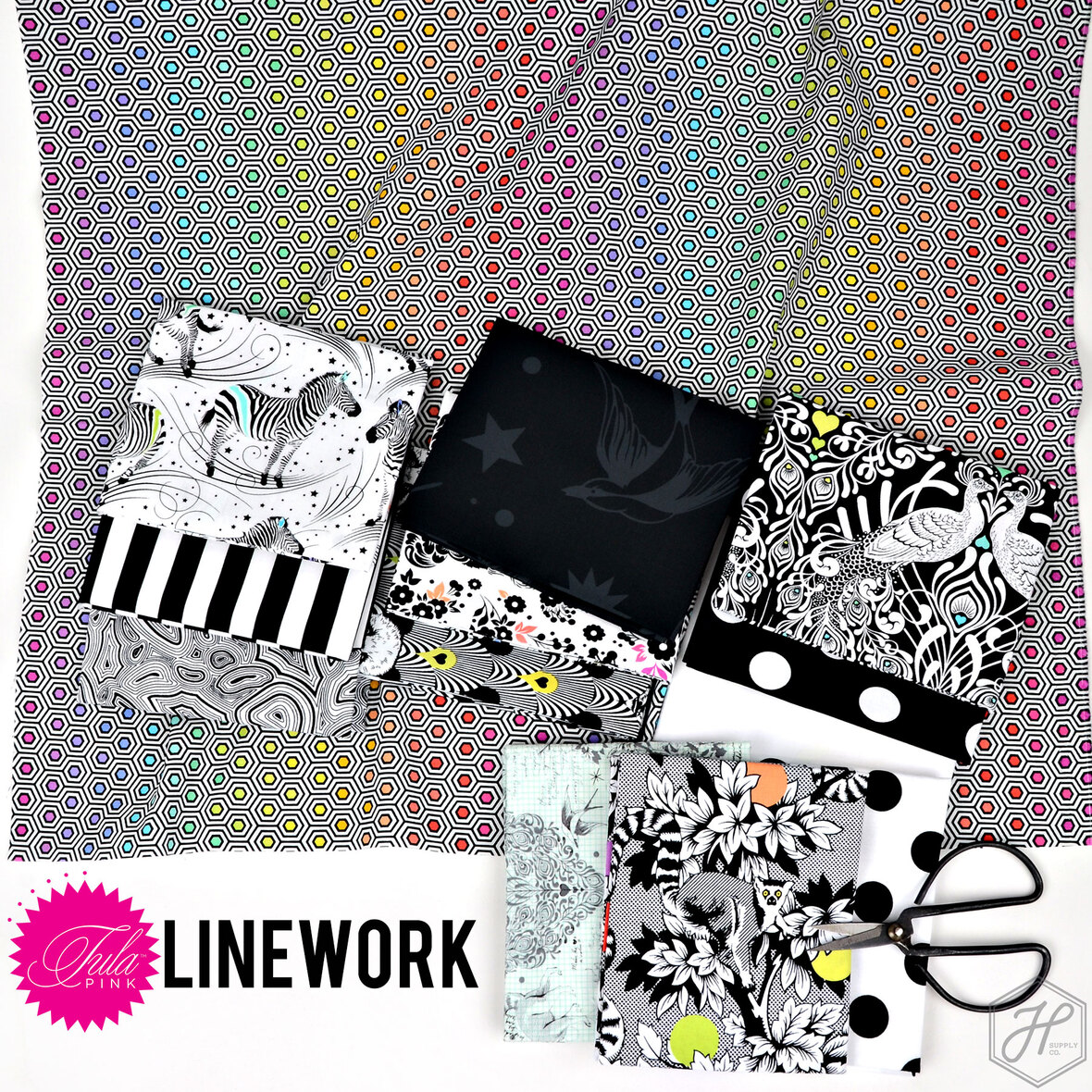 Lineowork-Tula-Pink-fabric-for-Free-Spirit-at-Hawthorne-Supply-Co