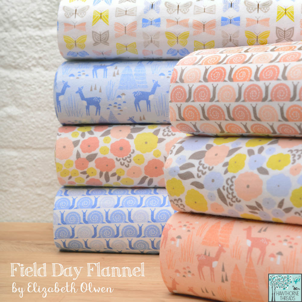 Field Day Flannel Fabric poster
