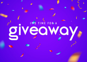 time for giveaway