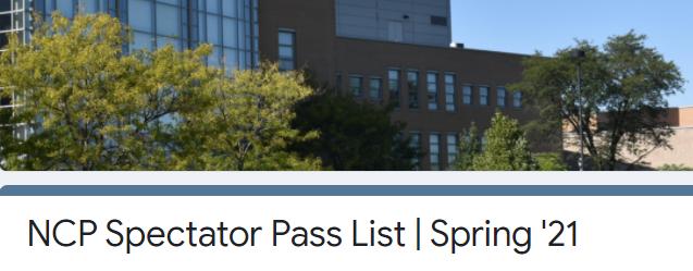 spectator pass list