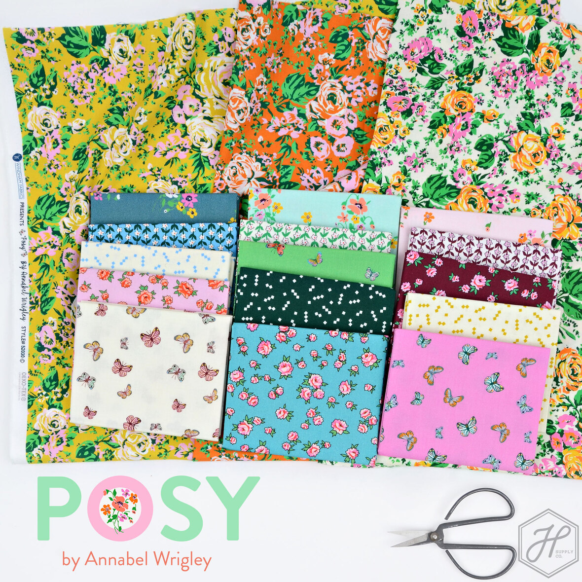 Posy-Annabel-Wrigley-for-Windham-fabric-at-Hawthorne-Supply-Co