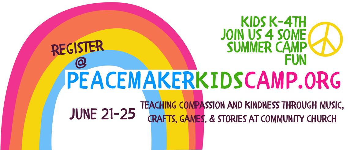 PEACEMAKER KIDS CAMP banner