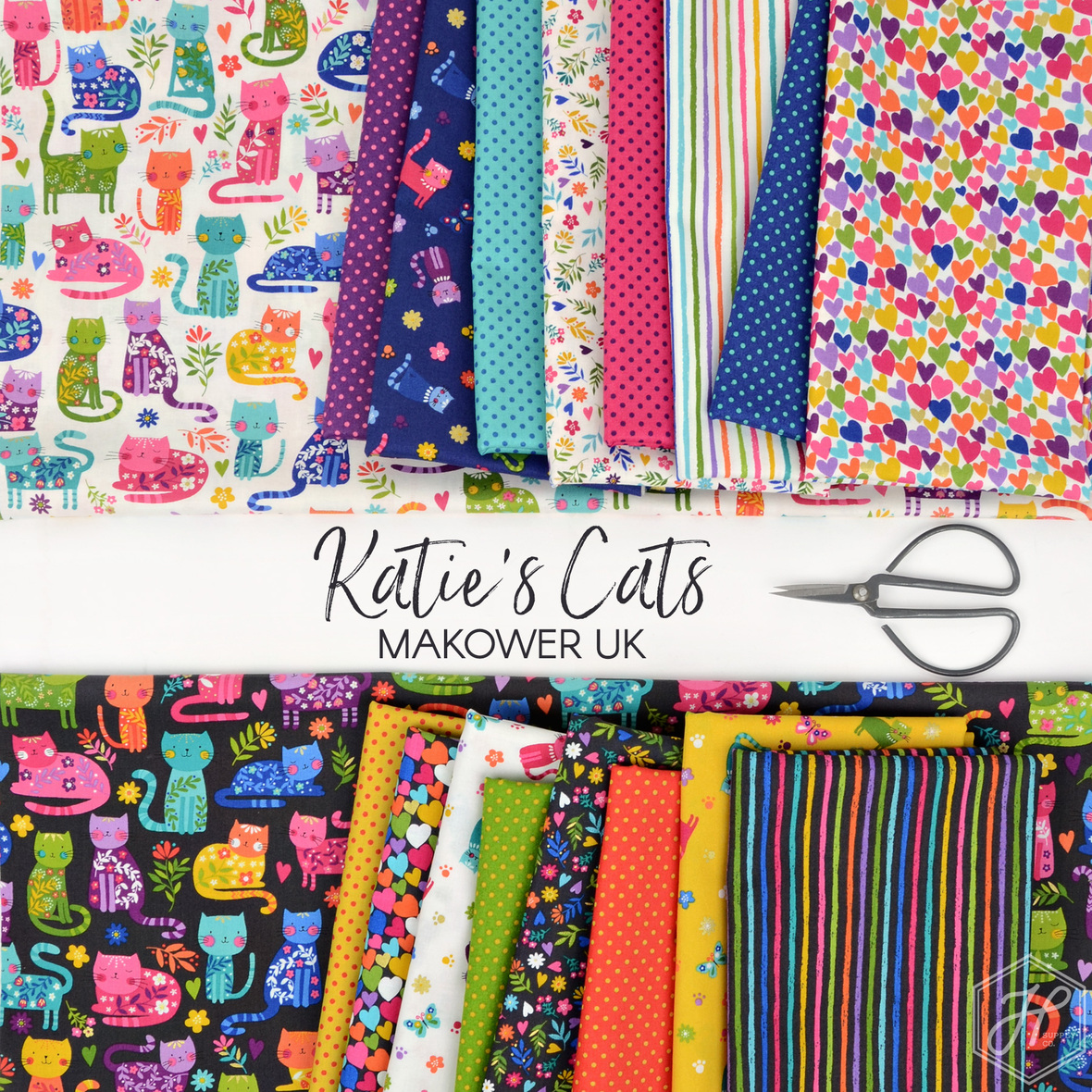 Katies-Cats-Andover-and-Makower-Fabric-at-Hawthorne-Supply-Co