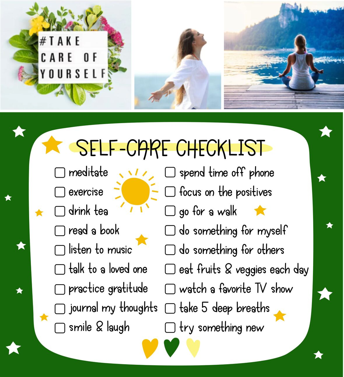 self-care check list