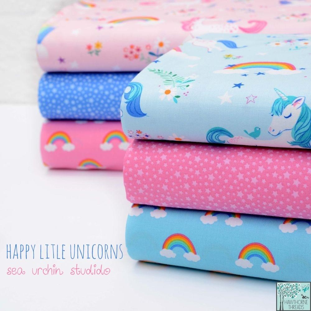Happy Little Unicorns Fabric Poster