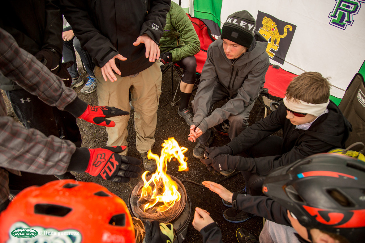 HRC Riders Huddle Camp fire