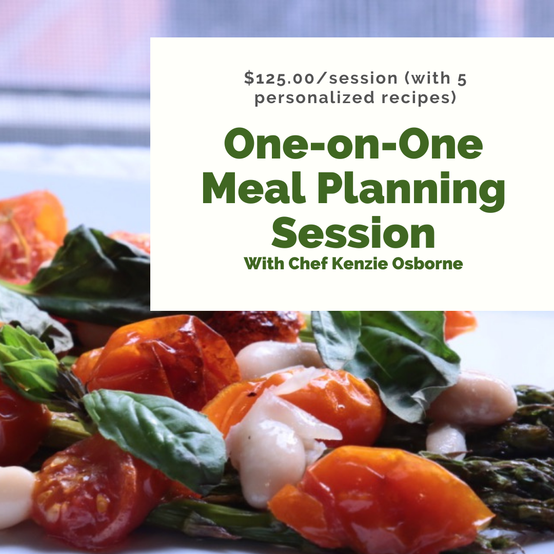 One-on-one meal planning session