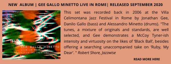 Jonathan Gee Gallo Minetto live in Rome Jazz Albums Showcase 3
