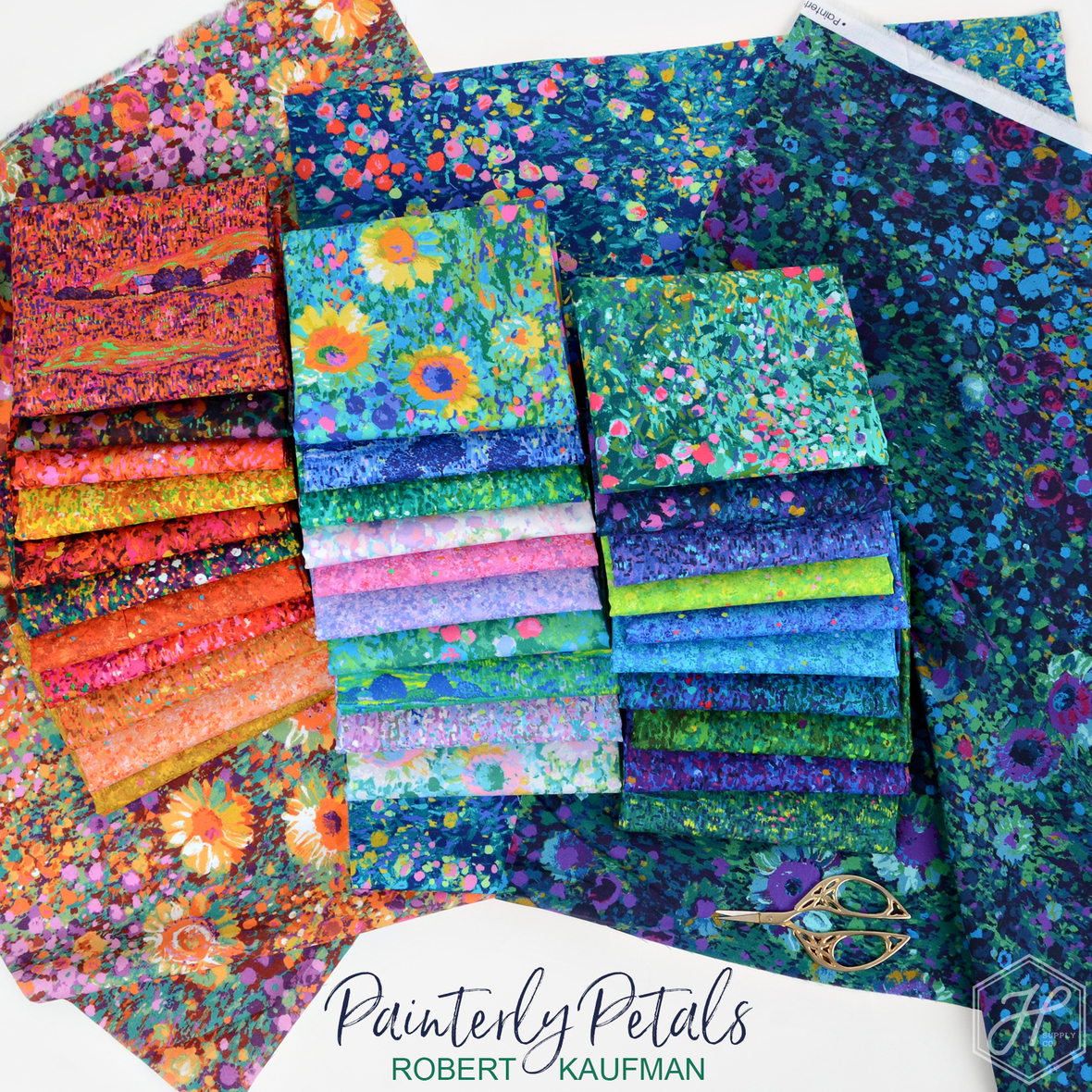 Painterly-Petals-Fabric Poster
