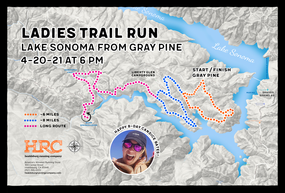 Lake sonoma gray pine ladies map