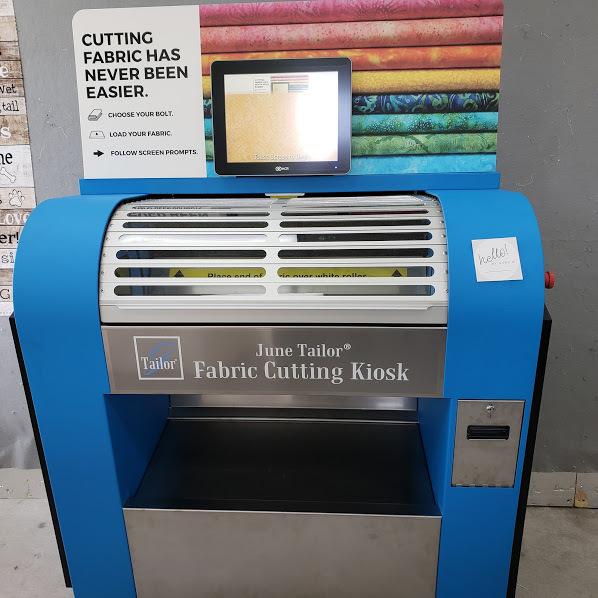 kiosk with name tag