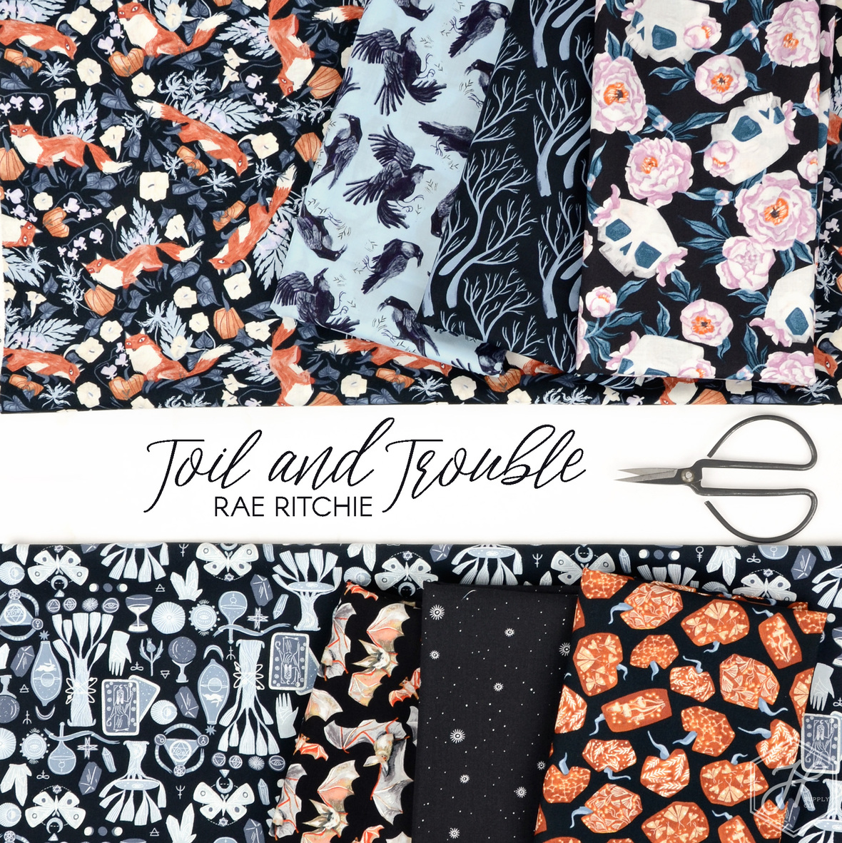 Toil-and-Trouble-Rae-Ritchie-for-Dear-Stella-fabric-at-Hawthorne-Supply-Co