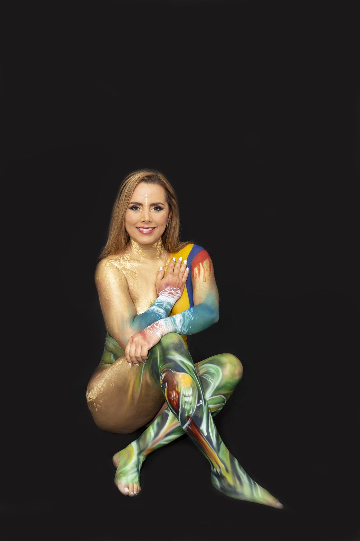 Paula Zuleta Mestizaje body painting  5