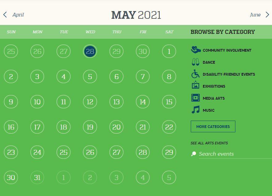 calendar may snip