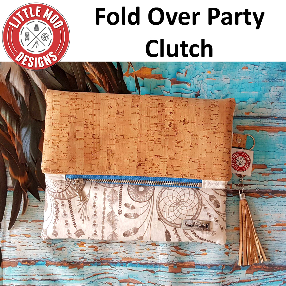 little moo designs fold over party clutch sewing pattern