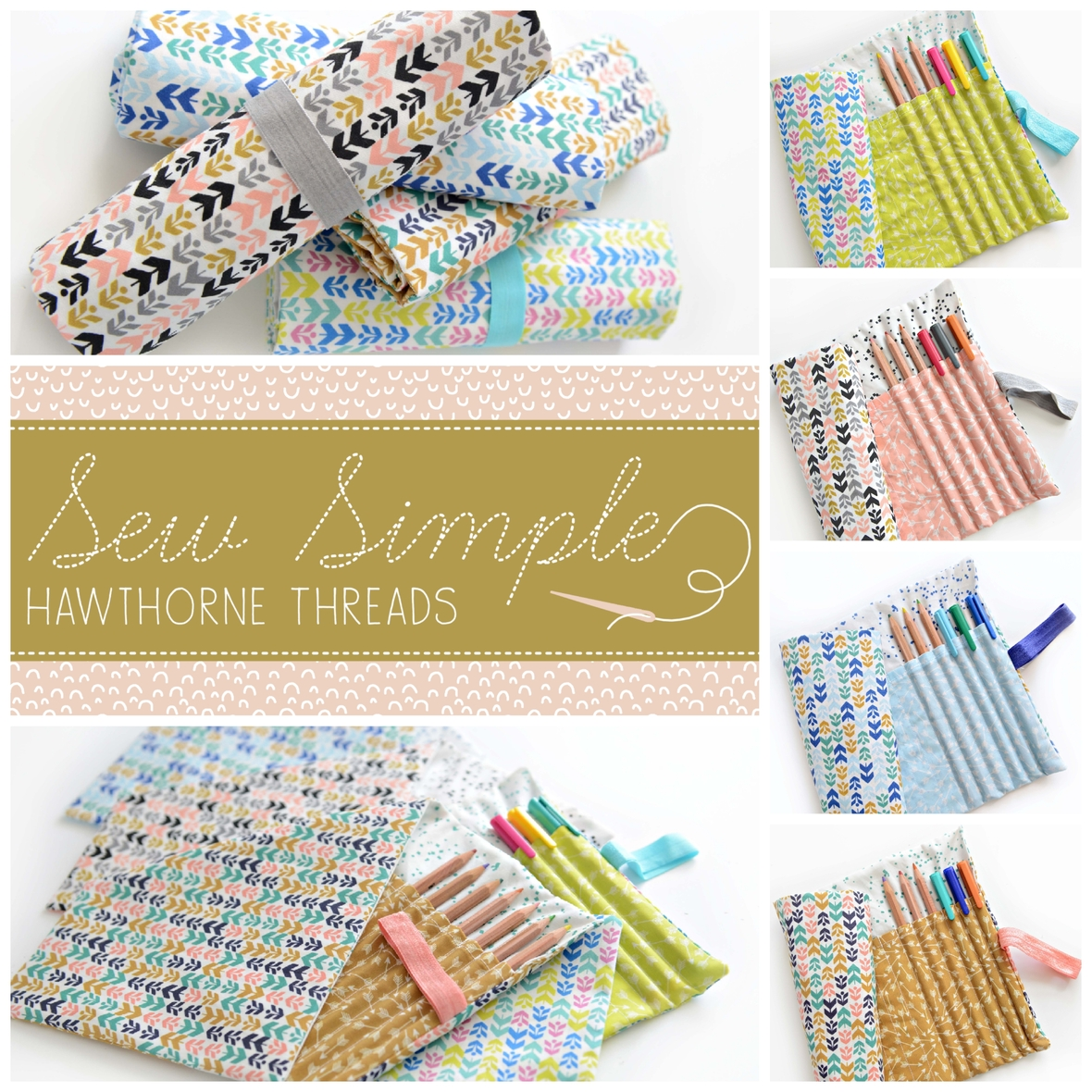 Sew Simple Pencil Rolls