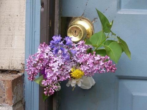 Lilac may day basket