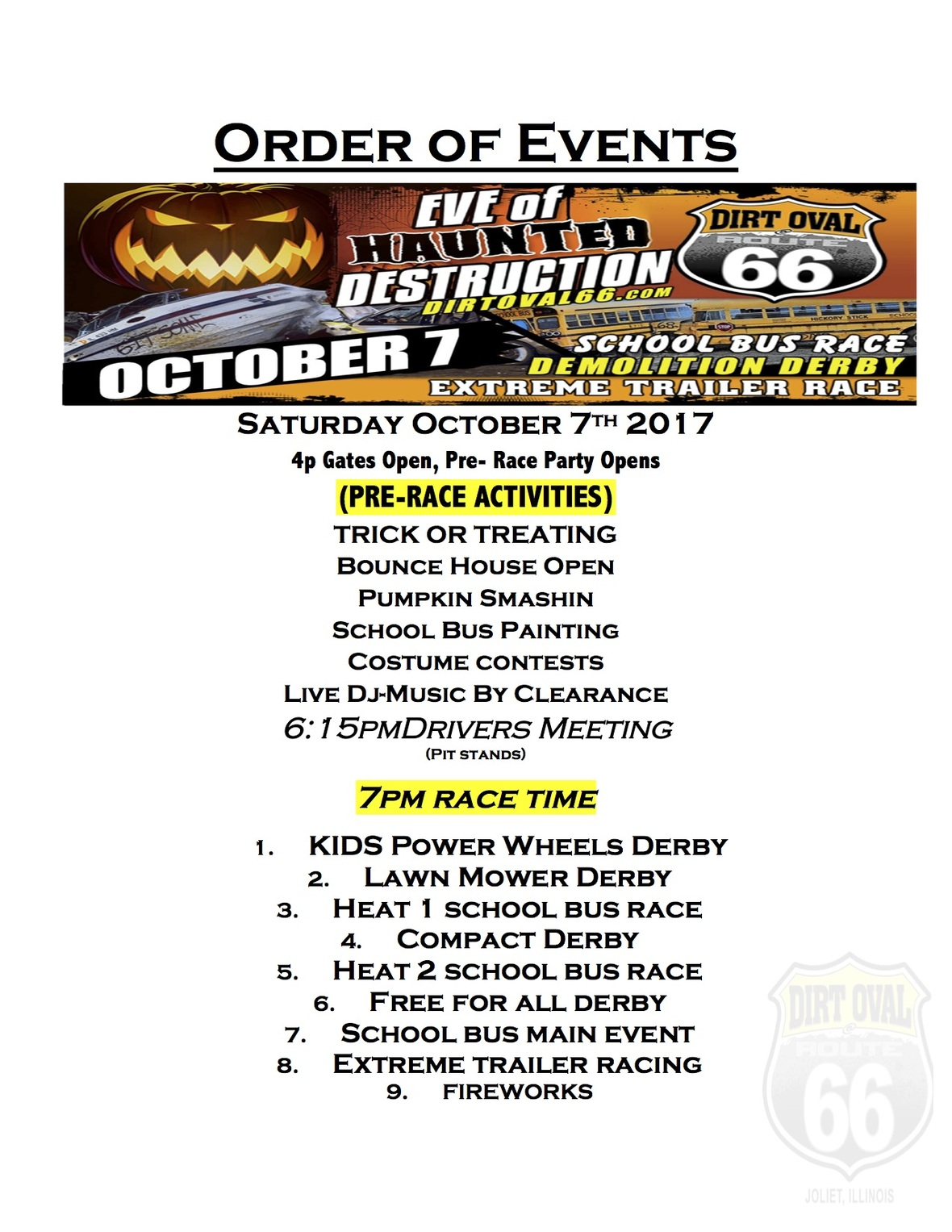 66 order of events 10-7-17