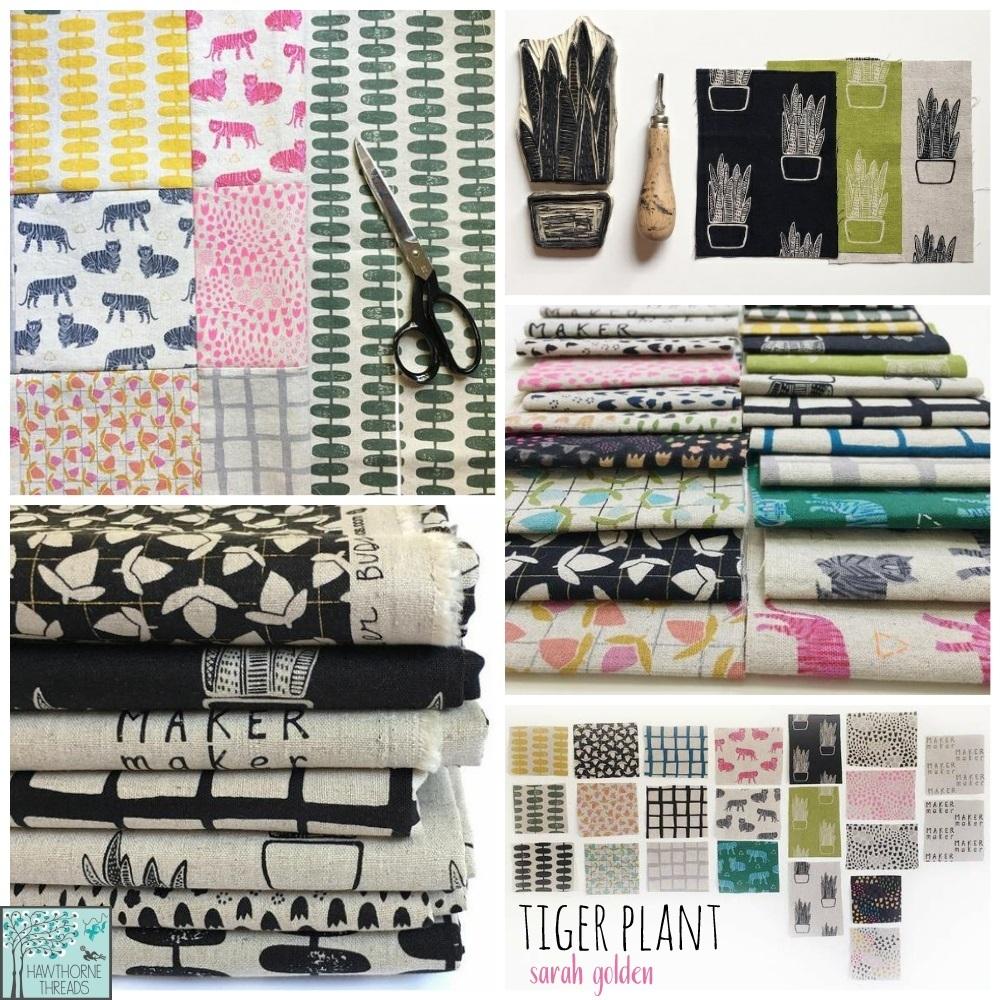 Tiger Plant Maker Maker Fabric Poster