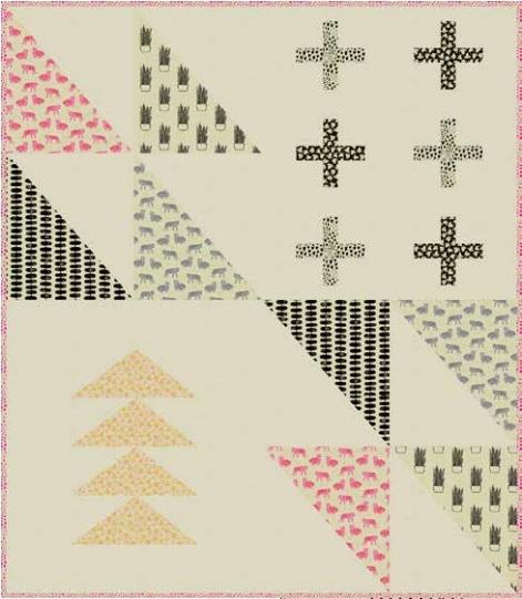Tiger Plant Free Quilt pattern