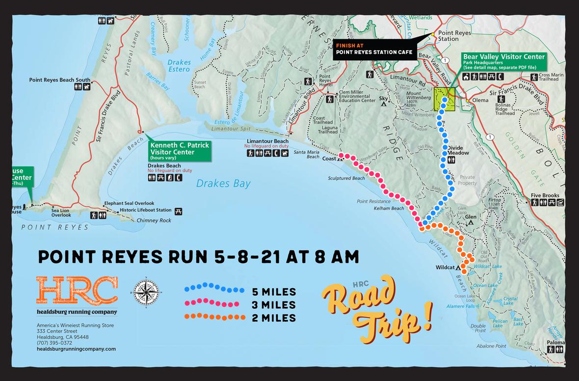 point reyes park map