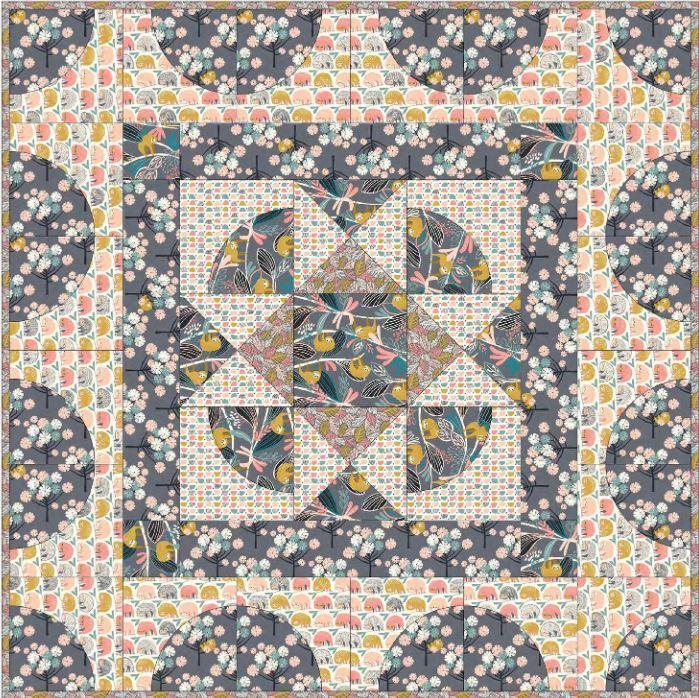blend fabrics- free quilt pattern