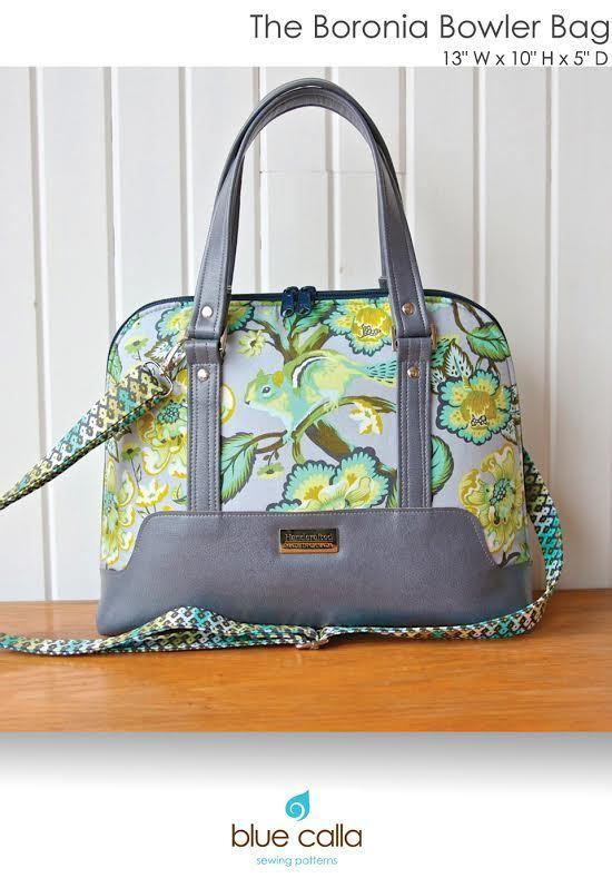 blue calla the boronia bowler bag sewing pattern