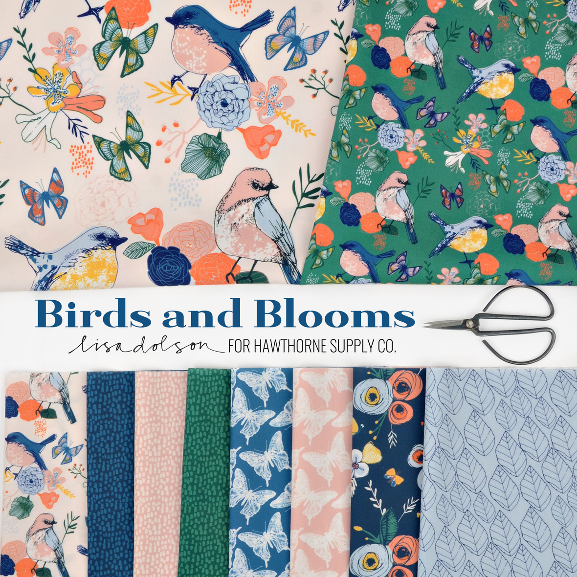 Lisa-Dolson-Birds-and-Blooms-Fabric-at-Hawthorne-Supply-Co
