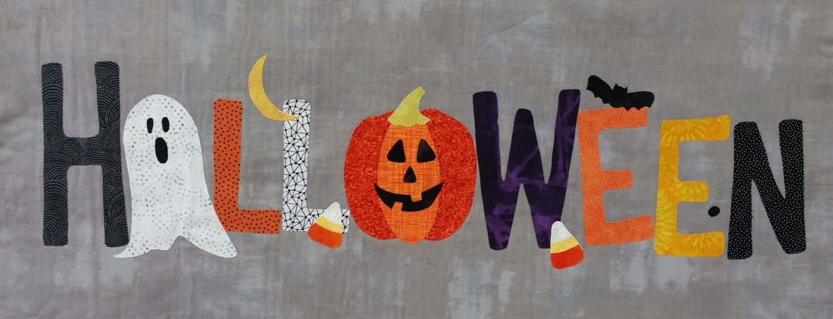 a year in words october halloween pillow