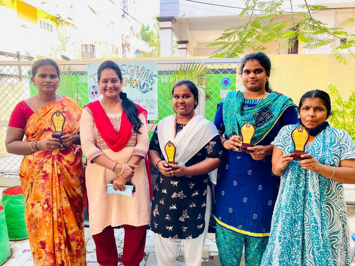 Thanks giving ceremony at girls home