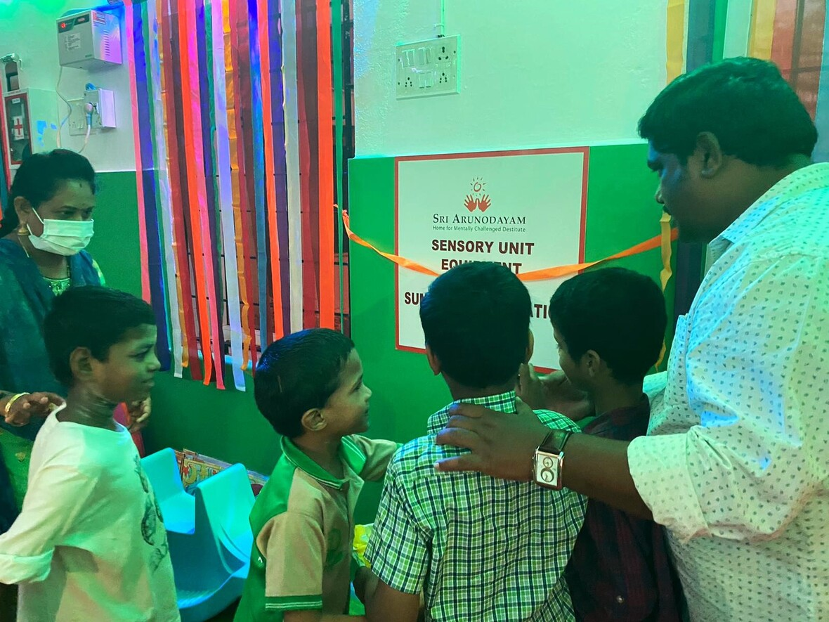 Virtual inauguration of Sensory unit at Boys Home A