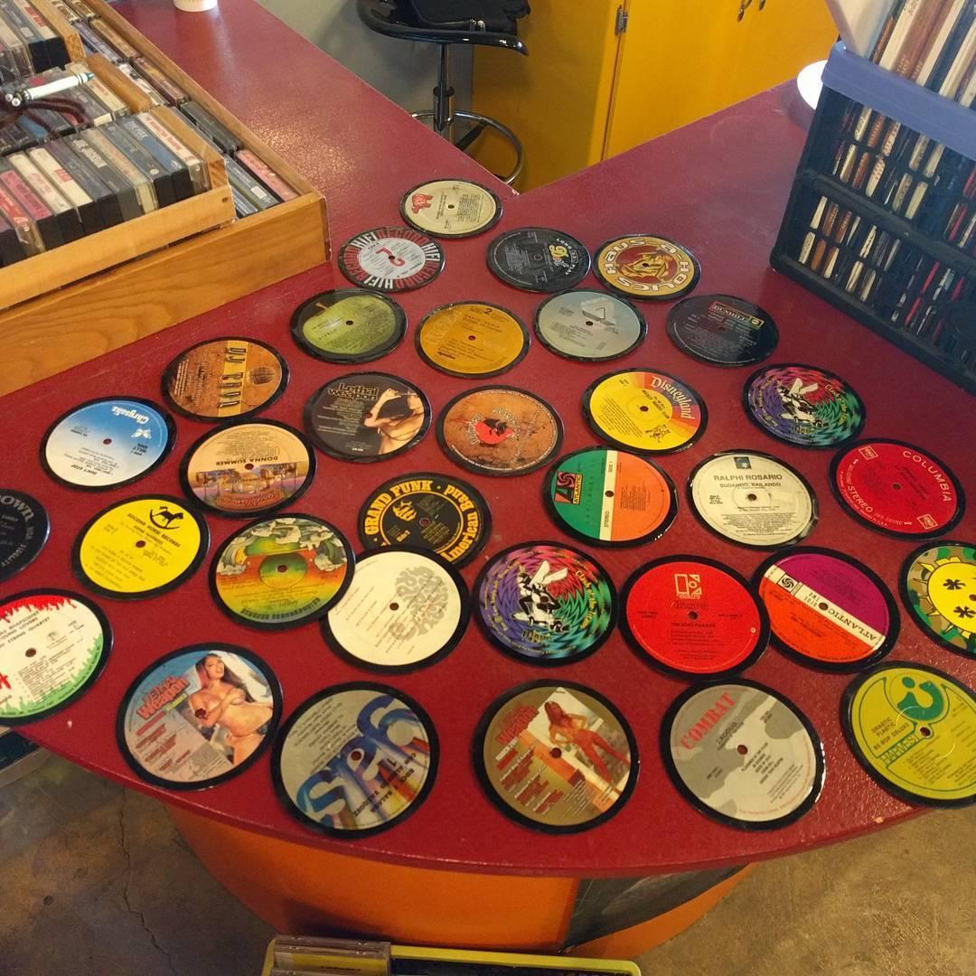 Vinyl-Drink-Coasters