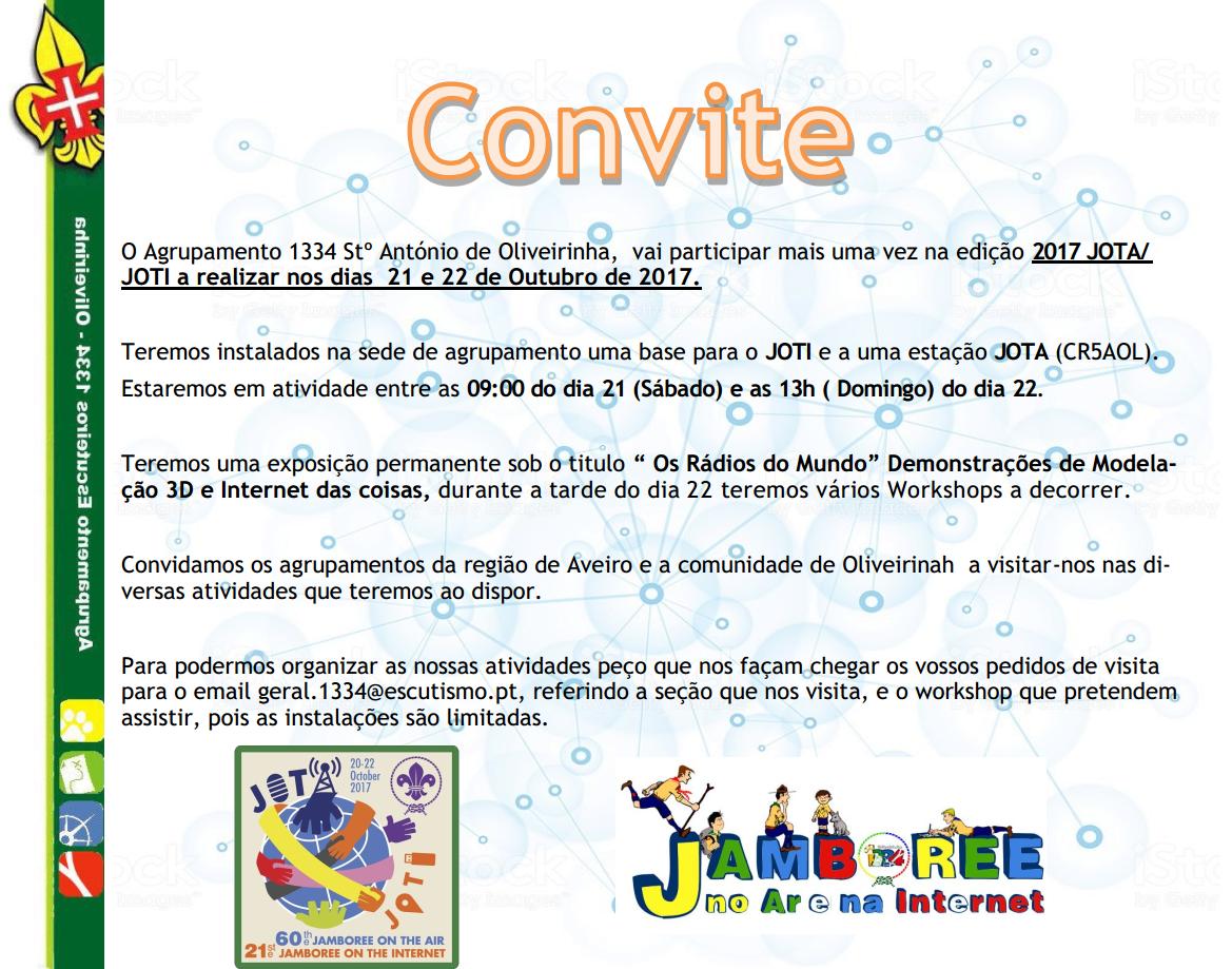 JOTA JOTI convite Oliveirinha