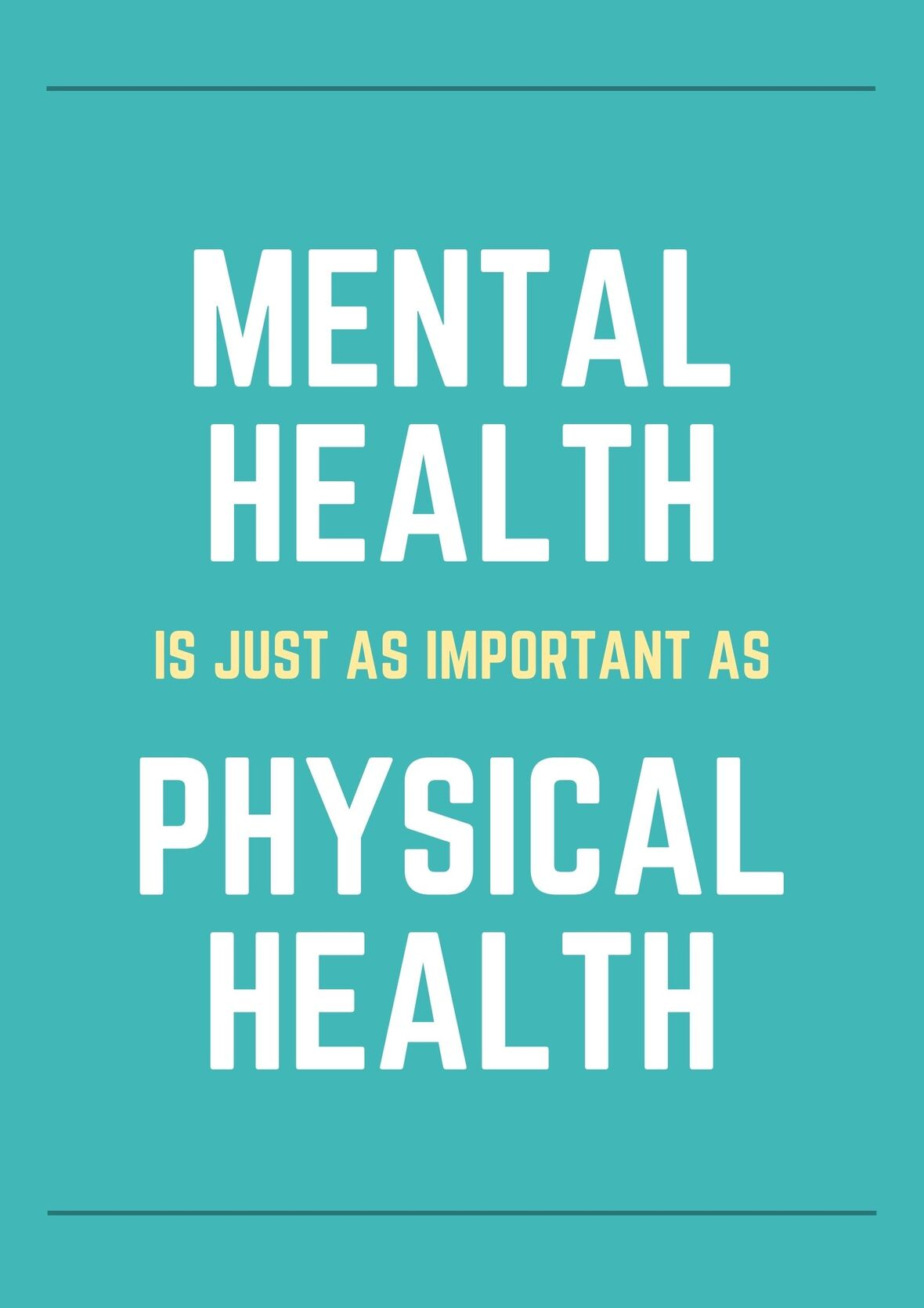 Green Yellow and White Mental Health Poster