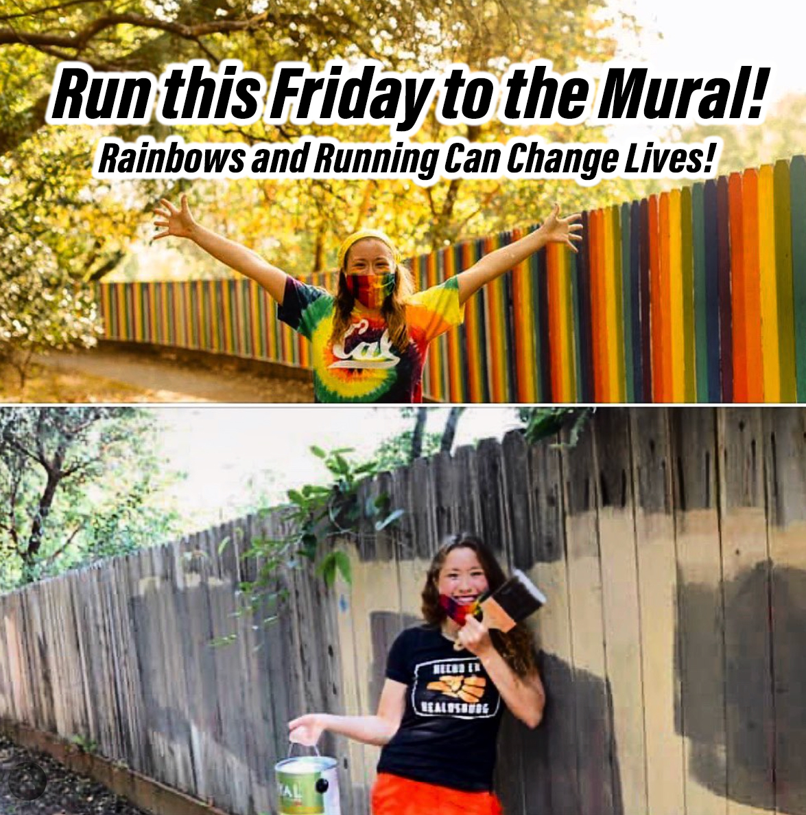 rainbows running