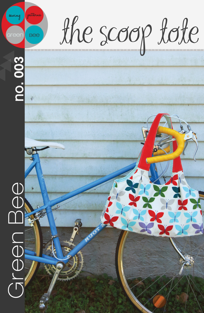 green bee design the scoop tote sewing pattern