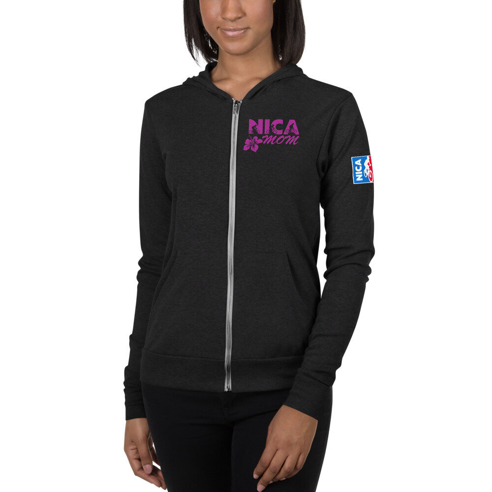 unisex-lightweight-zip-hoodie-charcoal-black-triblend-front-609d6b6a23f74