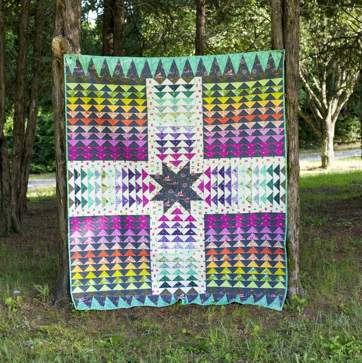 tula pink wayfinder quilt kit sewing pattern