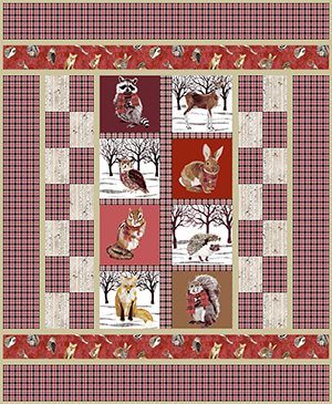 Forest Friends Quilt Red Janet Houts Andover SIte