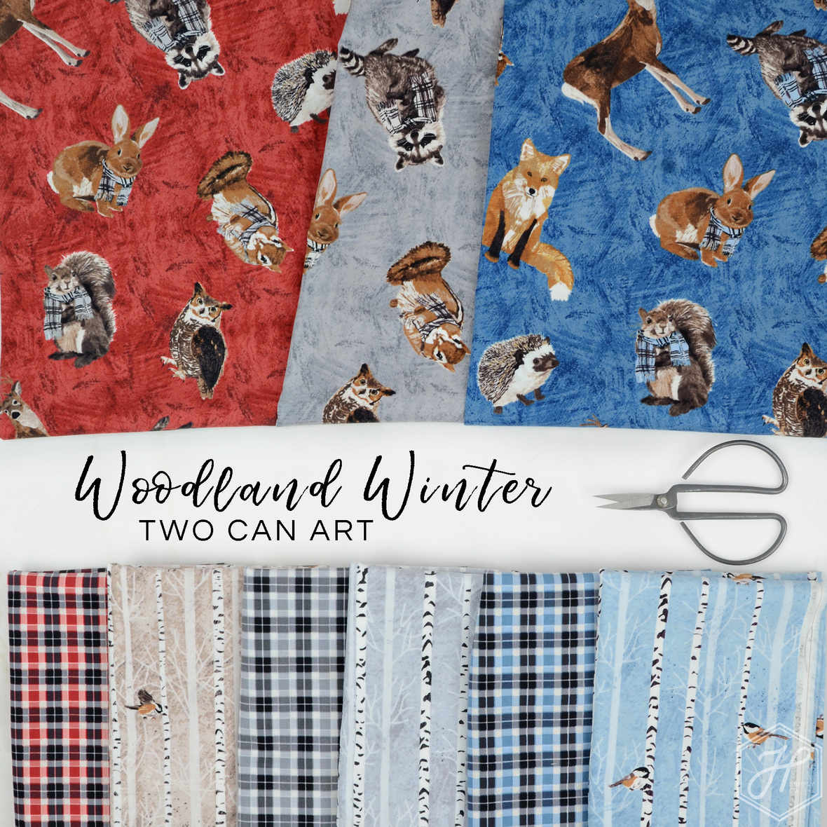 Woodland-Winter-fabric-Two-Can-art-for-Andover-at-Hawthorne-Supply-Co